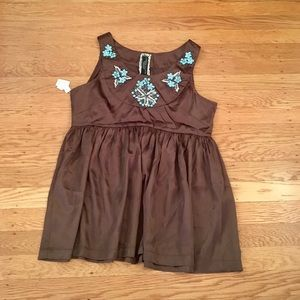 NWT Andersen & Lauth satin bead top NEW UO